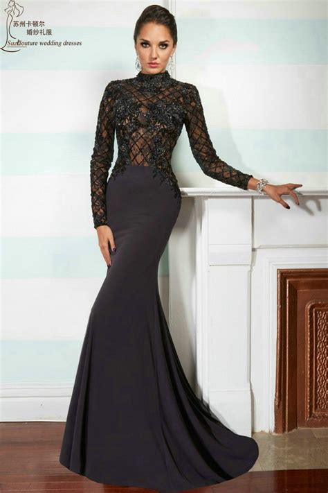 evening dresses 2015 macktakcom long sleeve prom dress 2015 mp1003 elegant long black