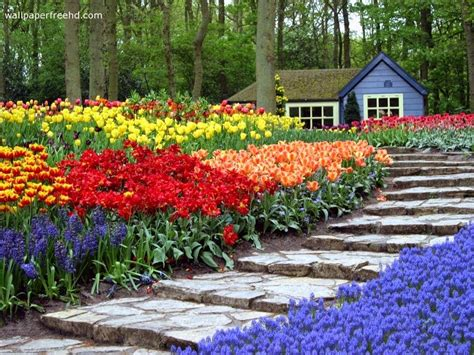 Decorating House Exterior With Beautiful Home Garden Home Flower Gardens