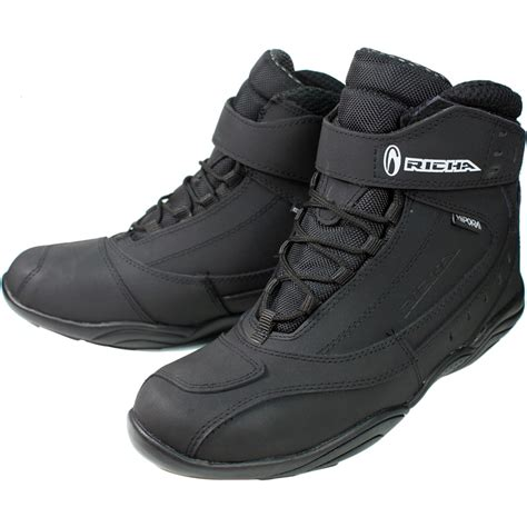 motorcycle ankle boots richa slick hipora waterproof motorbike motorcycle