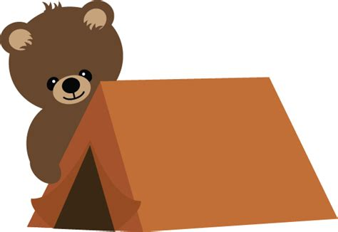 Free Software Mailed To Me At Home bear with tent svg scrapbook file bear svg file camping