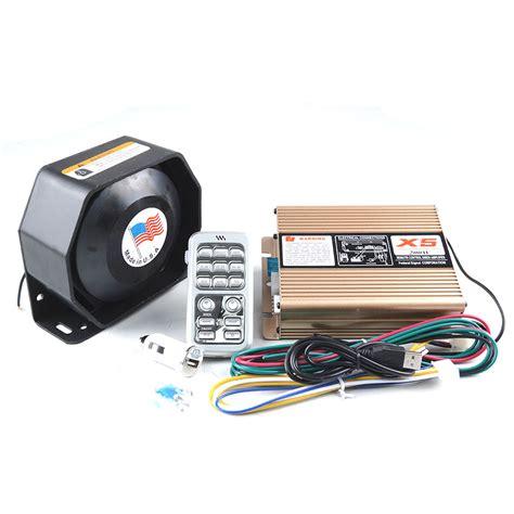 Promo Gila Slim Speaker 200w For Horn Sirine Touring Konvoi P Ygy2310 200w 12v siren x5 electrical car siren alarm siren ultra slim speaker wireless remote