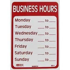 Business Sign Template Free Business Hours Sign Template 171 Free Business