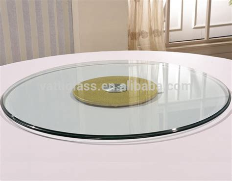 glass table top lazy susan dining tables with lazy susan cheap tempered glass silver
