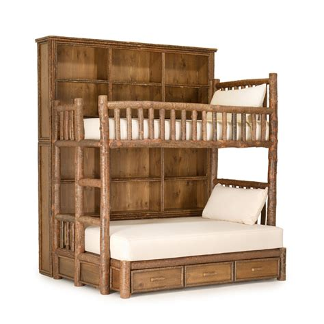 Rustic Bunk Bed Plans Custom Rustic Bunk Bed With Bookshelves By La Lune Collection This Design Plan Just Not The