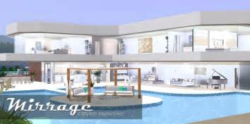 Ice1 sims3 creations mirrage 3 bedroom modern house