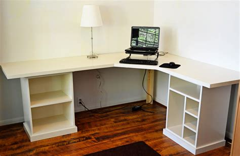 modular desk finally finished white woodworking