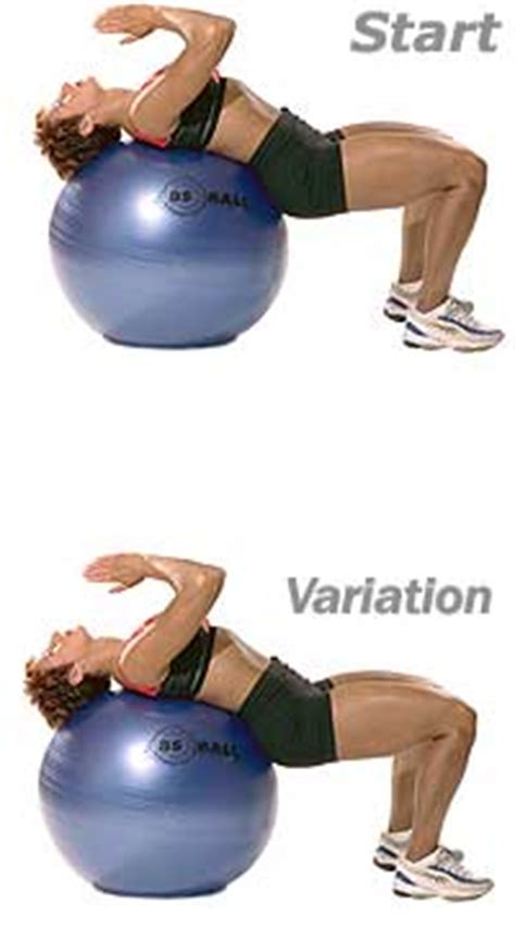 supine abdominal stretch  swiss exercise ball