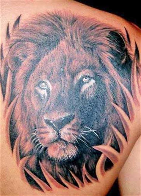 tattoo tribal lion head lions head tattoos high quality photos and flash designs