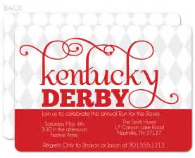 harlequin kentucky derby invitations swanky press
