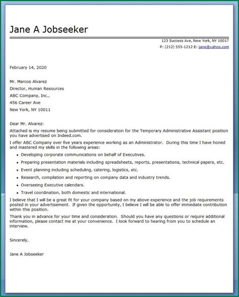 Thank You Letter For Executive Assistant 13 Administrative Assistant Cover Letter Applicationsformat Info