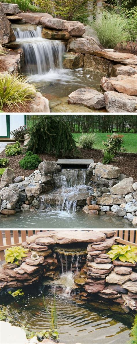 small backyard waterfall small backyard waterfalls for modern house rock work