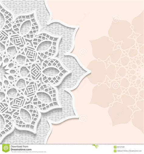 3d paper card template vector 3d background festive pattern embossing alace