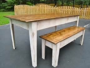 modern farmhouse kitchen table with bench do it yourself