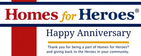 homes for heroes 174 affiliate anniversaries in january