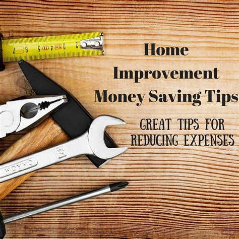 home improvement money saving tips