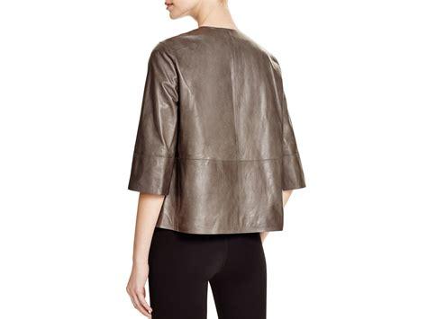 Newyork Rock Parka lafayette 148 new york athea leather jacket in gray lyst