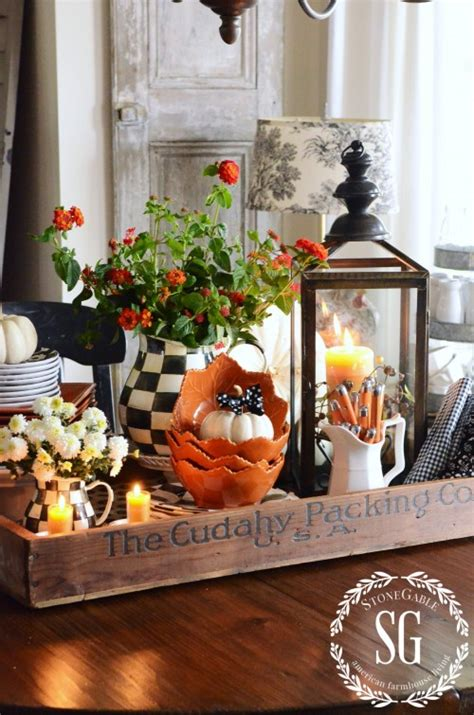 ideas for kitchen table centerpieces fall kitchen table centerpiece stonegable