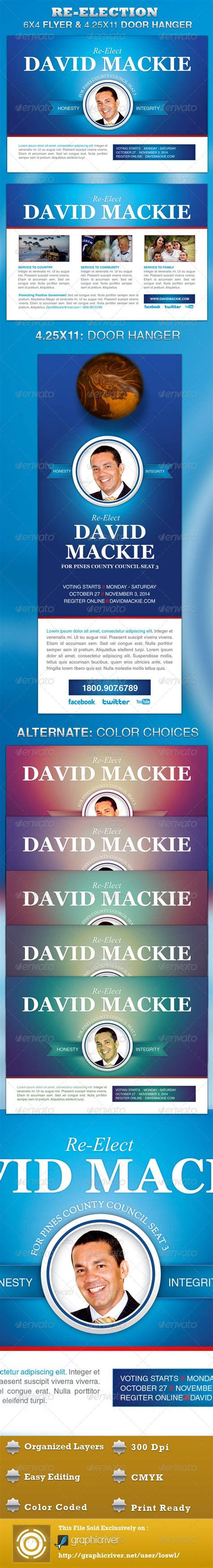 re election flyer and door hanger template fonts the