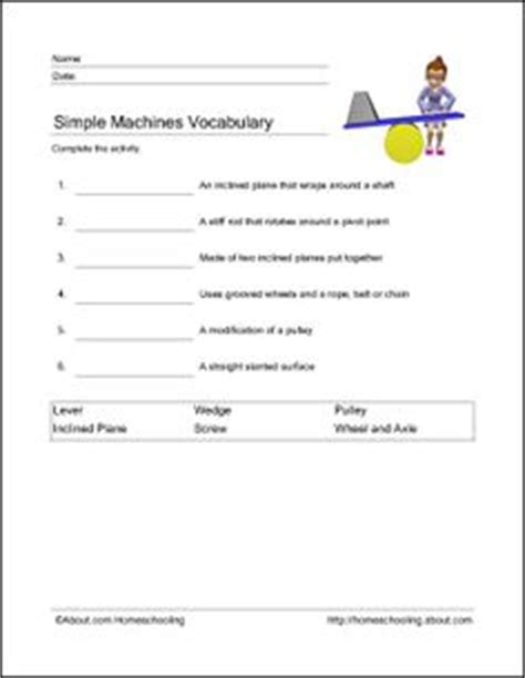 Human Machine Worksheet Answers by 1000 Images About Grade 4 Science Wheels And Levers On