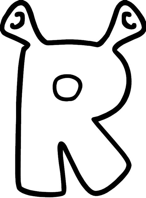 coloring page letter r the letter r coloring letters coloring pages