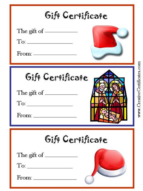 gift certificates free 6 best images of free printable gift
