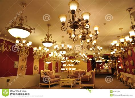 Chandelier Shop Luxury Pendent Lighting Shop Stock Image Image 57372465