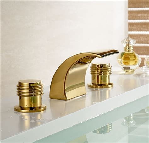 Kitchen Faucets Bronze Finish by Gold Bathroom Faucet Gold Finish Brass Body Led Bathroom
