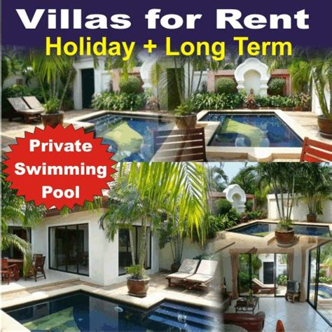 3 bedroom houses for rent ta pattaya holiday villas with private swimmingpool for rent