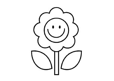 cartoon flower coloring pages flower coloring page
