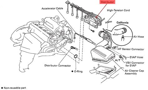 1996 toyota camry engine diagram where is my camshaft position sensor located on a 1996