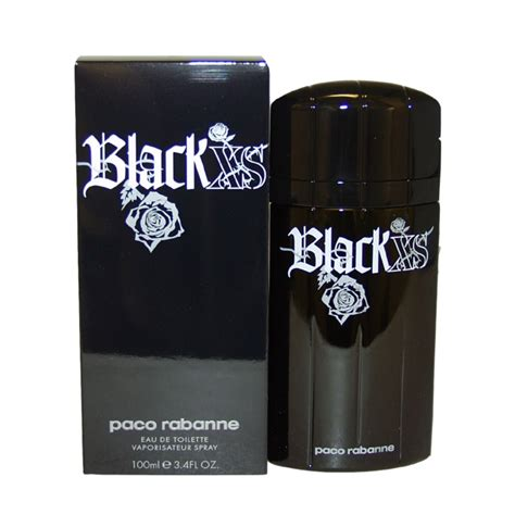 black xs parfum paco rabanne black xs by for men 3 4 oz edt spray