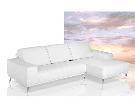 modern white leather sofa modern white leather sectional sofa 44l6007