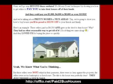 how to buy houses with no money down go beyond no money down you can get paid to buy houses