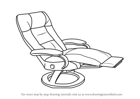 how to draw a recliner chair step by step learn how to draw a recliner furniture step by step
