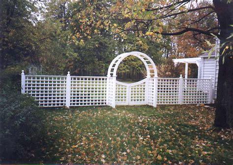 Garden Arch Fence Square Lattice Fence Garden Arch Gate By