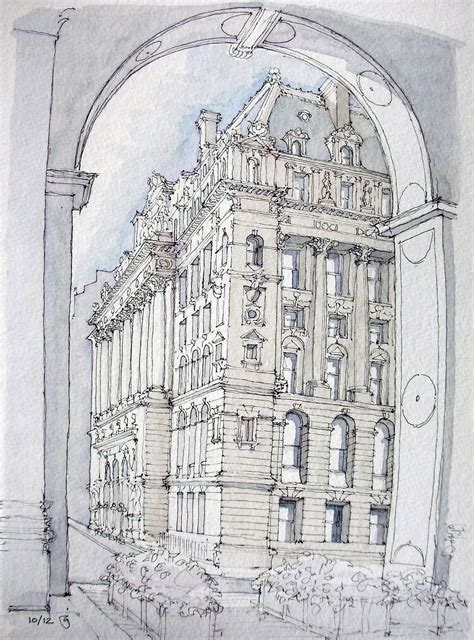 B Arch Sketches by Surrogate Court Building Drawing Designs Architecture