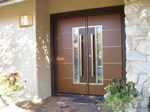 European double front door contemporary entry new york by
