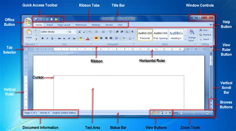 screen layout microsoft word 2010 introduction to computers word processing page