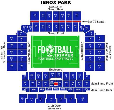 Park West Floor Plan by Ibrox Stadium Guide Glasgow Rangers F C Football Tripper