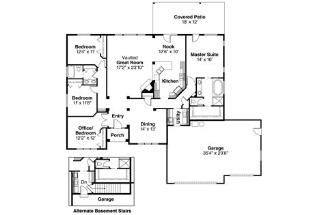 Master Bedroom Bathroom Floor Plans Ranch House Plans Clearfield 30 318 Associated Designs