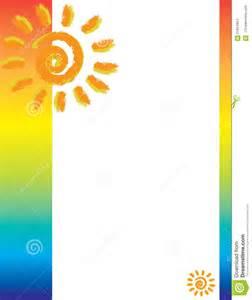 tropical sun brochure border stock illustration image