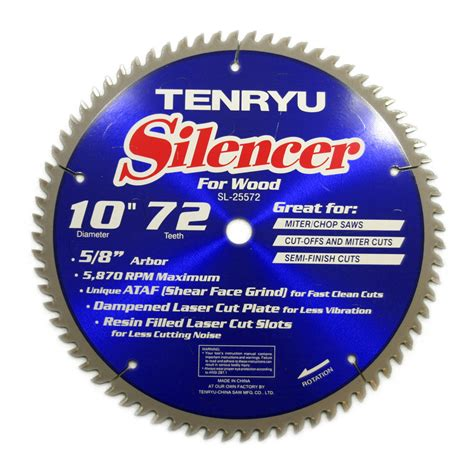 10 inch table saw blade tenryu sl 25572 10 inch carbide tipped table miter saw