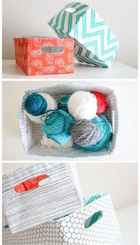diy fabric storage box with a handle shelterness amazing fabric storage bins diycraftsguru