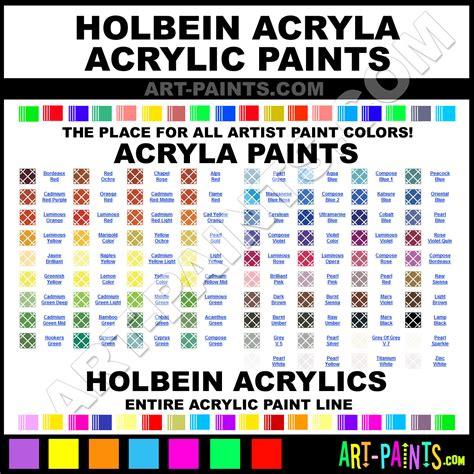 acrylic paint for holbein acryla acrylic paint colors holbein acryla paint