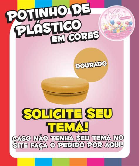 Plastik Segel 7 5 Cm By Nomi Mino potinho de pl 225 stico em cores dourado no elo7 magia
