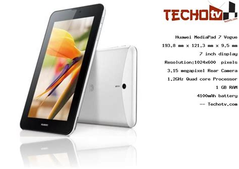 Tablet Huawei Mediapad 7 Vogue huawei mediapad 7 vogue tablet specifications price