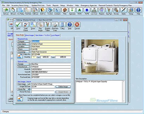 home inventory database model home box ideas