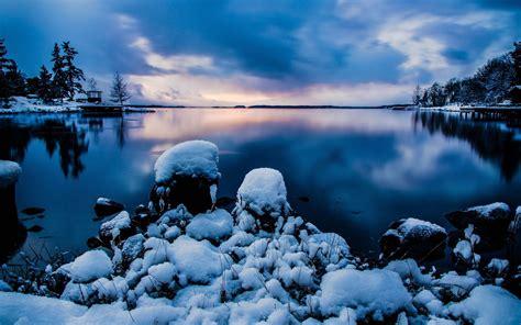 winter lake sweden stockholm wallpapers winter lake sweden stockholm stock