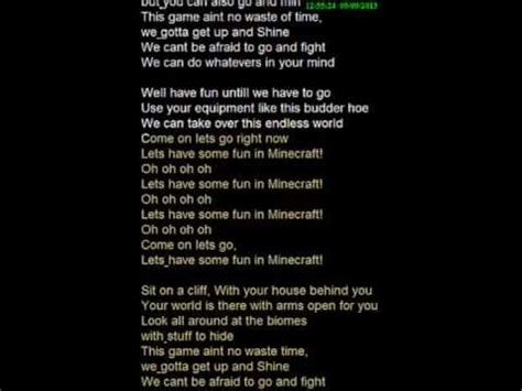 song by karaoke with lyrics quot lets some in minecraft