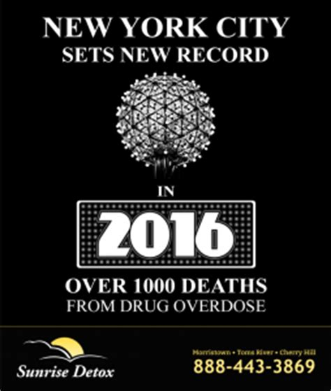 Detox New York State by 2016 New York State Record For Overdose Deaths